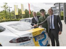 ADAC-Aufkleberaktion beim Bayernwerk
