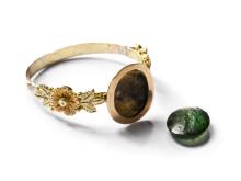 Ring med antik grön sten - intaglio