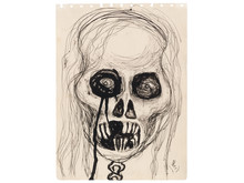 Alice Neel/Självporträtt skalle/Self Portrait Skull, 1958