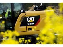 Cat M315F hjulgrävare - närbild