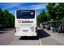 Swebus nya buss baksida Norrköping