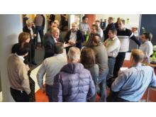 Unser Experte für das Bau- und Architektenrecht, RA Goetz Michaelis, hat auch in der Pause ein offenes Ohr für die Fragen der Teilnehmer