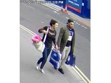 Aicha Boukourbane and unidentified man (right)
