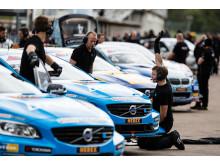 Volvo Polestar Racing på Swecondagarna 2014 - teamet i depån