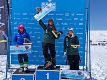Britta Backlund vinner världscuptävlingen i Andorra