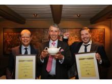 F.v: Hotelldirektør på Scandic Nidelven, Kjetil Vassdal, Stephen Twining, og Food & Beverage Manager på Scandic Nidelven, Lasse Waagbø.
