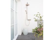 AXOR Front Showerpipe i rødguld på Les Bains