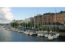 Gästhamn i centrala Härnösand.