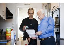 Samhall levererar mat till pensionär