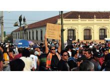 Protesterna mot den korruptionsanklagade presidenten ledde till hans avgång