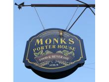 Smideskylt Monks porterhouse