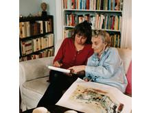Astrid Lindgren och Marit Törnqvist