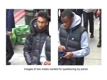 Images of two men wanted for questioning by police