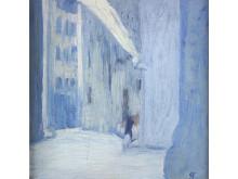 "Ellen Thesleff ""Florens"", 1907 olja på trä, 21x20,5"