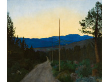Landeveien/The Country Road, olje på lerret, 1905., Harald Sohlberg. Privat eie.