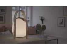 Trådlös högtalare och lampa, mini - miljö