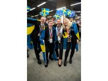 Tre bronsmedaljer och en silvermedalj till Svenska landslaget