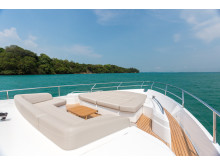 High res image - Princess Motor Yacht Sales - Princess 75 exterior foredeck