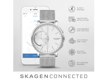 SKAGEN Connected Steel-Mesh Sølv Hybrid Smartklokke