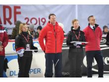 Närings- och innovationsminister Mikael Damberg & SkiStars VD Mats Årjes