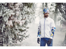 Falun XC jacket and pants, Falun knitted hat