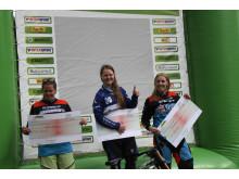 Pallen i kvinner elite etter NorgesCup Utfor i Nesbyen