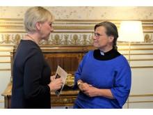 Karin Wiborn och Margot Wallström