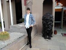 Anna Axelsson, DIakonias policyrådgivare i klimatfrågor, på plats i Marrakesh.