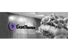 Grant Thorntons logotype i reception