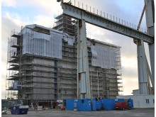 Boendedelen till oljeplattformen Martin Linge byggs av Apply Emtunga i Göteborg.