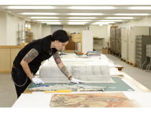 4,6 miljoner kartor och ritningar finns på Stadsarkivet