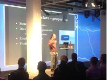Karl Janmar af Ekenstam håller lightning talk på Sec-T 2012