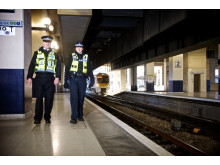 Officers step up patrols in a bid to tackle trespassing on the railway