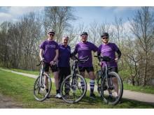 Lila Hoffnung Fahrradtour