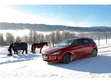 Nye Hyundai i30 på fjellet