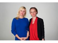 Lisa Henriksson från Egen Tid och Susanna Heli från Föda utan rädsla.