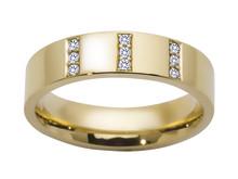 Diamantrg i gult gull kr 12998,- BGF157D9