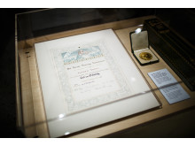 Ossietzky's Nobel diploma and medal