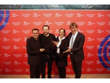 v.l.: Jörg Widmann, Andris Nelsons, Dr. Skadi Jennicke und Prof. Andreas Schulz präsentierten das Jubiläumsprogramm