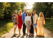 Fra venstre: Benjamin Boe Rasmussen, Xenia Lach Nielsen, Niels Olsen, Susanne Bier, Bodil Jørgensen, Silas Holst & Maria Lucia