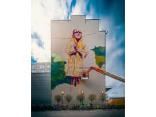 Clarion Hotel Stockholm klär om Skanstull med Södermalms största muralmålning