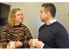 Nyföretagaren Anna Eliasson och företagslotsen Christoffer Zevin.