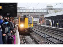 London Midland Train Travelling through Northampton on the West Coast Mainline
