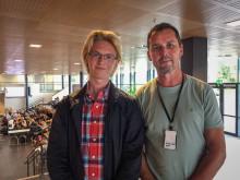 Elevrådsleder og rektor ved Hetland