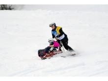 Alla på snö i Källviksbacken, Falun