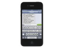 Skärmdump SMS-kommunikation