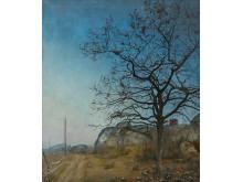 Eken/The Oak, olje på lerret, 1908,  Harald Sohlberg. Det Faste Galleri, Drammens Museum