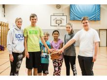 Loka Hero Sofia Nyboms basketlag för unga med autism laddar  för sin första turnering någonsin