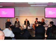 Ola Björkman, Micael Averborg, Peter Johansson, Filippa Kull och Camilla Lemnell satt i panelen dag två.
