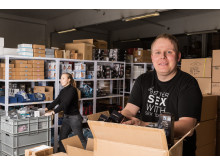 Søren Jensen, lagerchef hos Sinful.dk